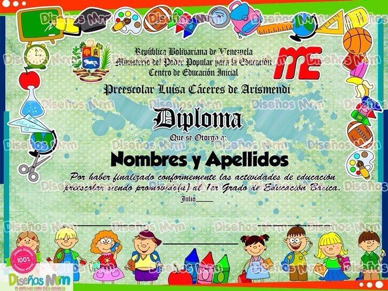 summary diplomas de preescolar para editar gratis imagenes y