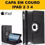 Capinha Case Retina Luxo 360 + Pelic Vidro Apple iPad 2 3 4 Original