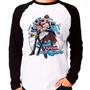 Camiseta Yu-gi-oh! Duel Links Game Raglan Manga Longa Original