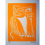 Aldemir Martins - Gato Amarelo - Deslumbrante Serigrafia !!! Original