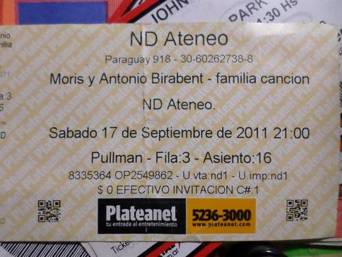 Entrada Moris- Antonio Birabent Flia Canción Nd Ateneo