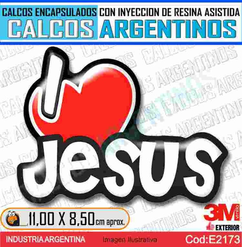 Calcomania Yo Amo A Jesus C/relieve ,encapsulada 3d, Resina
