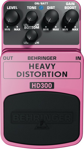 Pedal Heavy Distortion Behringer Hd300