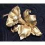 Broche Antigo Ouro 18k Perola Belissimo 20.4grs Original