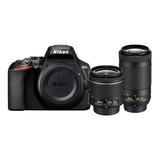 Nikon D3500 18-55mm Vr + 70-300mm Ed Kit Dslr Color  Negro