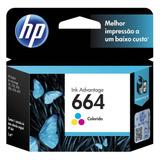 Tinta Original Hp 664 Tricolor Modelo F6v28al Incluye Iva