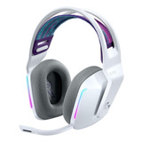 Audífonos Gamer Inalámbricos Logitech G Series G733 Blanco Con Luz  Rgb