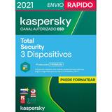 Kaspersky Total Security 3 Pc 1 Año Oferta Especial