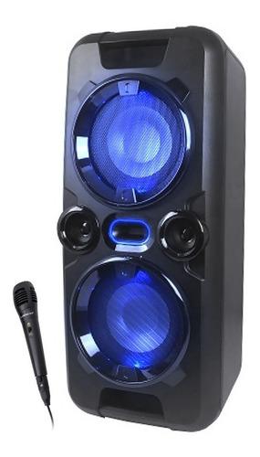 Parlante Bluetooth Equipo De Musica Portatil Bateria Luz + Microfono Winco 240