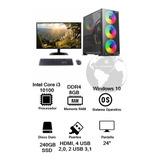 Pc De Mesa Core I3 Decima Gen 24 Ddr4 8gb Win10 Office 365
