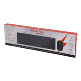 Teclado Inalámbrico Aiwa Home Office + Mouse 1600 Dpi Fc783b