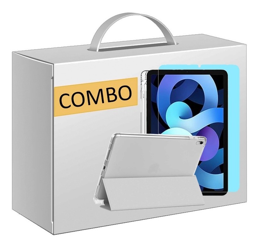 COMBO FUNDA SMART COVER CON ESTUCHE LAPIZ PARA IPAD 10.9 GRIS