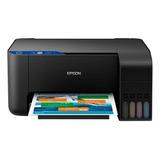 Impresora A Color  Multifunción Epson Ecotank L3110 Negra 100v/240v