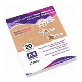 Etiqueta Adhesiva Kraft Imprimible Redonda 20 Hojas Diam 6cm