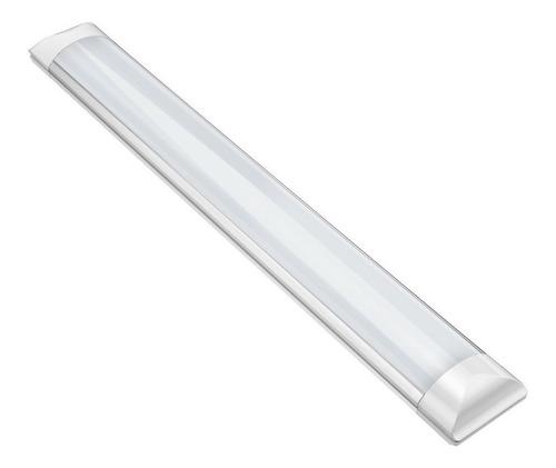 Luminária Sobrepor Led 36w 120cm Tubular Slim Branca Frio
