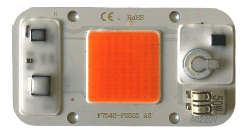 Led Cob Full Spectrum 50w 220v , Con Bornera Y Vastidor