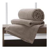Cobertor Corttex Home Design Microfibra Casal Bege Liso