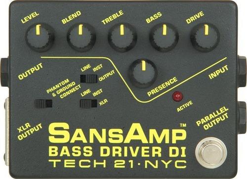 Sansamp Pedal Bsdr Bass Driver Tech21