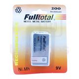 1 Bateria 9v Recargable 200 Mah Alta Duracion Fulltotal