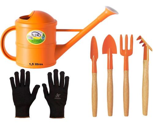 Kit Jardinagem Tramontina Mini P\ Vasos + Regador + Brinde