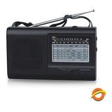Radio Portatil Fm Am Dual 220v  Multibanda  Sw 9 Bandas