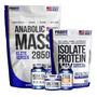 Hipercalórico Mass + Isolate Protein + Bcaa + Creatina + Zma Original