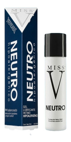 Lubricante Neutro Miss V Neutro Hipoalergenico Geles Intimo