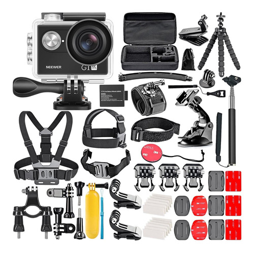 Camara De Accion Neewer G1 Ultra Hd 4k Con Kit De Accesorios