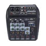 Consola Mixer Dj 4 Canales Usb Phantom Acustica Vx-200u