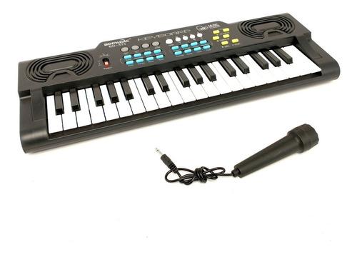 Teclado Órgano Musical C/ Micrófono 37 Teclas 8 Tonos Bd373