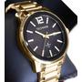 Relógio Technos Masculino Dourado Quadrado Golf 2115koi/4p Original