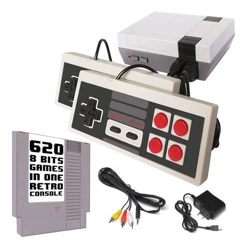 Consola Video Juegos Nes Family Retro 620 Juegos 2 Controles