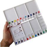 Paleta Plastica Mezcladora Sapiens Caja Para Acuarelas
