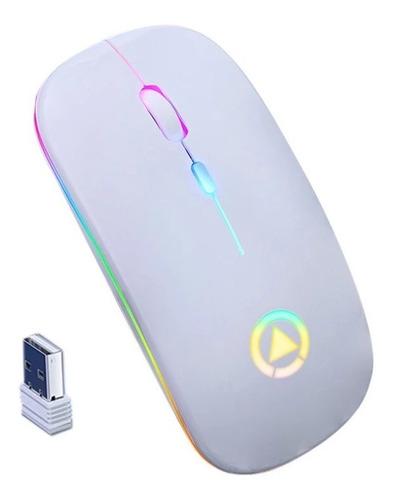 Mouse Optico Inalambrico 2,4ghz Recargable Gaming