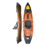 Kayak Hidro2eko Mako 110 Pro Naranja Y Negro- Kayak Feelfree
