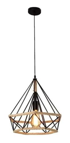 Lámparas Colgante Vintage Industrial Cuerda De Cáñamo
