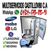 Servicio Técnico Nevera Lavadoras Samsung Frigidaire Mabe LG