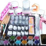 Kit De Uñas Acrilicas Completo Manicure Arte