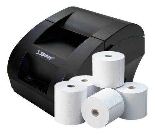 Impresora Termica Tickets Usb 58mm Punto De Venta + 5 Rollos