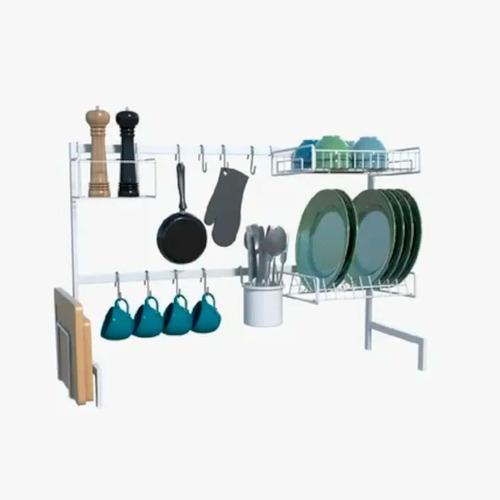 Cozinha Auto-sustentável Escorredor De Luxo Aço Promoção