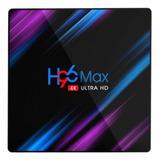 Tv Box H96 Max Rk3318  Estándar 4k 64gb  Negro Con 4gb De Memoria Ram