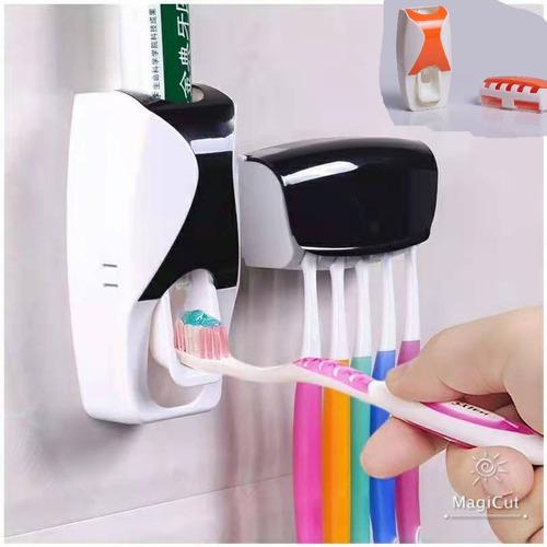 Dispensador Automático Para Pasta Dental Con Porta Cepillos