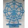 4 Centro De Mesa Roda Gigante Mdf Eeite Pintado 30cm Original