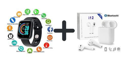 Combo Reloj Inteligente  + Audífonos Inalámbricos Bluetooth