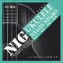 Encordoamento Nig N304 Ukulele Soprano Nylon Preto Original