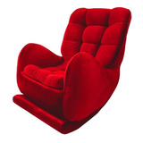 Poltrona Mecedora Sofá Mecedora  Milán Elegante Roja