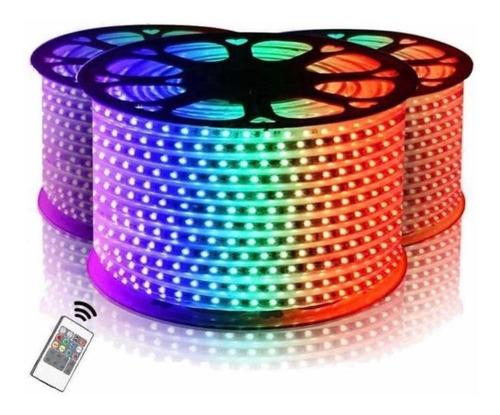 Cinta Led Rgb Multicolor X 10 Metros A 110v Con Control