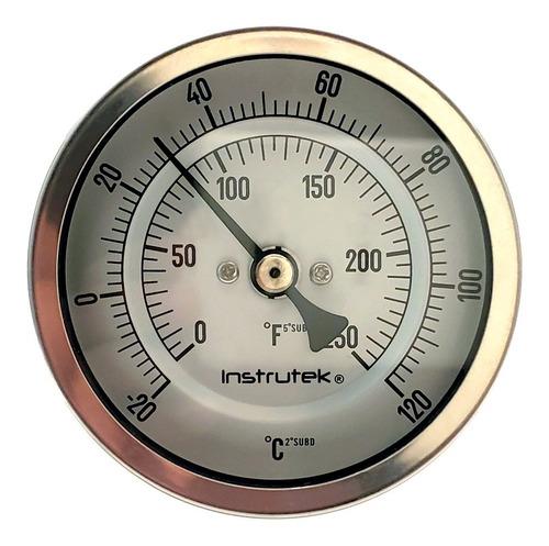 Termómetro Refrigeración 3 PLG -20/120°c Vást. 2.5 Rosca 1/2