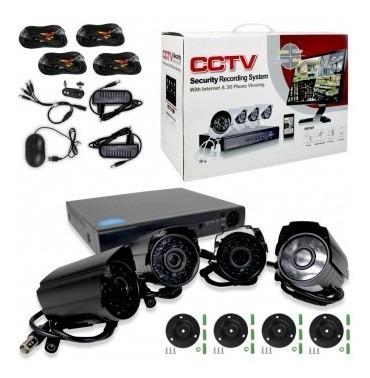 Kit 4 Camaras De Seguridad 4k Cctv Vigilancia *soy Tienda*