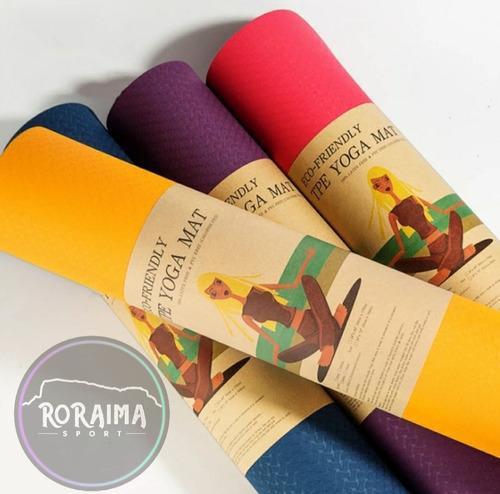 Mat Yoga Importado 6mm Porta Mat Incluído Esterilla Delivery